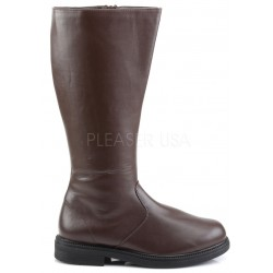Captain Mid Calf Plain Brown Boots Gothic Plus Gothic Clothing, Jewelry, Goth Shoes & Boots & Home Decor
