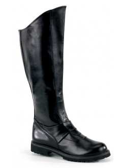 Gotham Knee High Plain Black Boots Gothic Plus Gothic Clothing, Jewelry, Goth Shoes & Boots & Home Decor