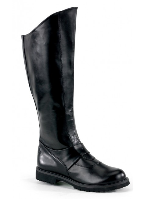 Gotham Knee High Plain Black Boots at Gothic Plus, Gothic Clothing, Jewelry, Goth Shoes & Boots & Home Decor