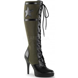 Arena Army Green Knee Boots for Women Gothic Plus Gothic Clothing, Jewelry, Goth Shoes & Boots & Home Decor