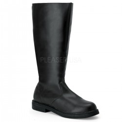 Captain Mid Calf Plain Black Boots Gothic Plus  Gothic Clothing, Jewelry, Goth Shoes, Boots & Home Decor