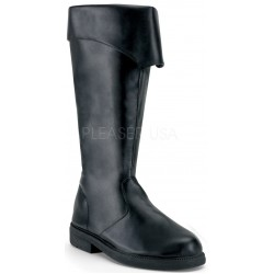 Captain Mid Calf Cuffed Black Boots Gothic Plus  Gothic Clothing, Jewelry, Goth Shoes, Boots & Home Decor