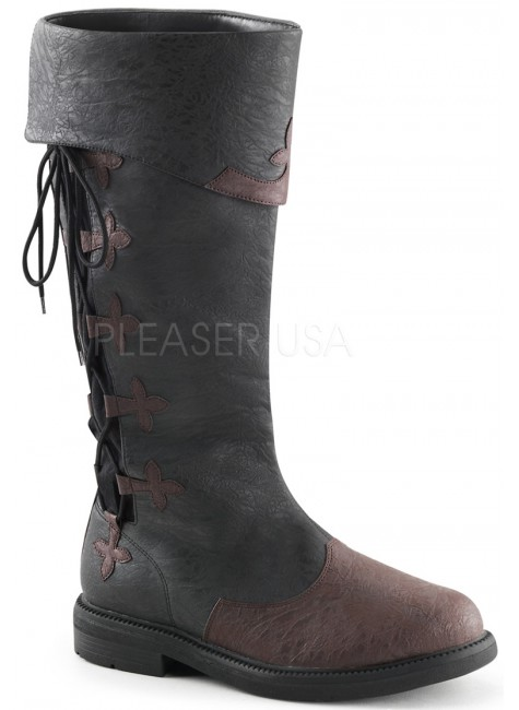 Distressed Black Rennaissance Costume Boots at Gothic Plus, Gothic Clothing, Jewelry, Goth Shoes & Boots & Home Decor