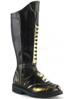 Captain Black Studded Cycle Boots Gothic Plus Gothic Clothing, Jewelry, Goth Shoes & Boots & Home Decor