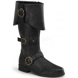 Carribean Distressed Black Pirate Boots Gothic Plus Gothic Clothing, Jewelry, Goth Shoes & Boots & Home Decor
