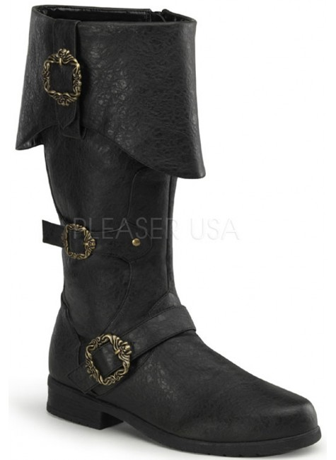 Carribean Distressed Black Pirate Boots at Gothic Plus, Gothic Clothing, Jewelry, Goth Shoes & Boots & Home Decor
