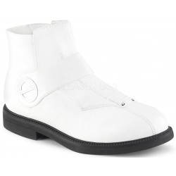Clone White Stormtrooper Ankle Boots Gothic Plus Gothic Clothing, Jewelry, Goth Shoes & Boots & Home Decor