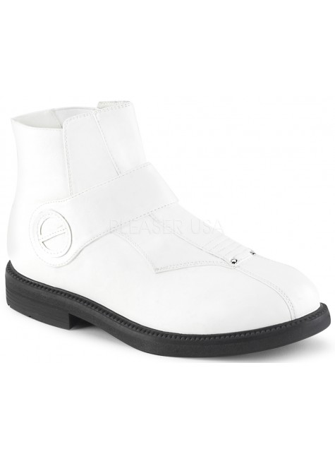 Clone White Stormtrooper Ankle Boots at Gothic Plus, Gothic Clothing, Jewelry, Goth Shoes & Boots & Home Decor