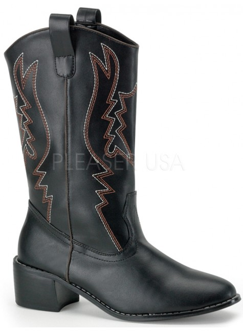 Cowboy Mens Black Western Boot at Gothic Plus, Gothic Clothing, Jewelry, Goth Shoes & Boots & Home Decor