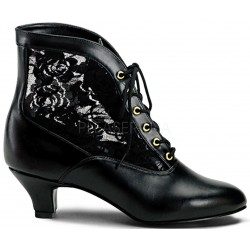 Victorian Dame Black Ankle Boot Gothic Plus Gothic Clothing, Jewelry, Goth Shoes & Boots & Home Decor