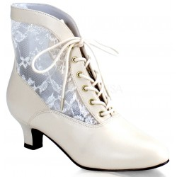 Victorian Dame Ivory Ankle Boot Gothic Plus Gothic Clothing, Jewelry, Goth Shoes & Boots & Home Decor