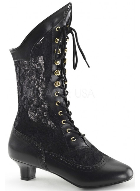 Victorian Dame Black Lace Boot at Gothic Plus, Gothic Clothing, Jewelry, Goth Shoes & Boots & Home Decor