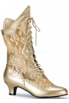 Victorian Dame Gold Lace Boot