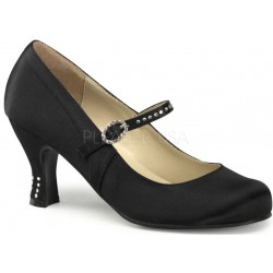 Flapper Black Satin Mary Jane Pump Gothic Plus Gothic Clothing, Jewelry, Goth Shoes & Boots & Home Decor