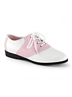 Saddle Shoe Pink and White Womens Flat Oxford Gothic Plus Gothic Clothing, Jewelry, Goth Shoes & Boots & Home Decor