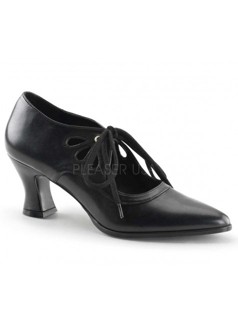 Victorian Black Cut Out Womens Pump at Gothic Plus, Gothic Clothing, Jewelry, Goth Shoes & Boots & Home Decor