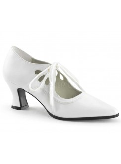 Victorian White Cut Out Womens Pump Gothic Plus Gothic Clothing, Jewelry, Goth Shoes & Boots & Home Decor