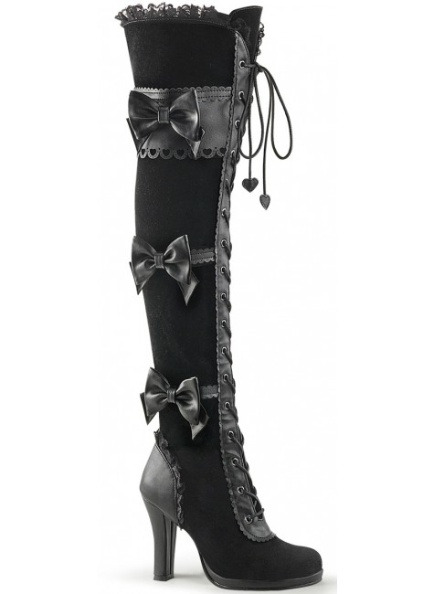 Glam Victorian Lace Gothic Over the Knee Boot at Gothic Plus, Gothic Clothing, Jewelry, Goth Shoes & Boots & Home Decor
