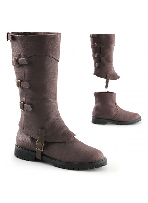 Gotham Detachable Shaft Brown Mens Boots at Gothic Plus, Gothic Clothing, Jewelry, Goth Shoes & Boots & Home Decor