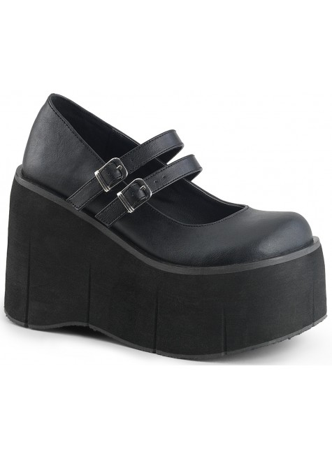 Kera Platform Mary Jane Double Strap Pump at Gothic Plus, Gothic Clothing, Jewelry, Goth Shoes & Boots & Home Decor