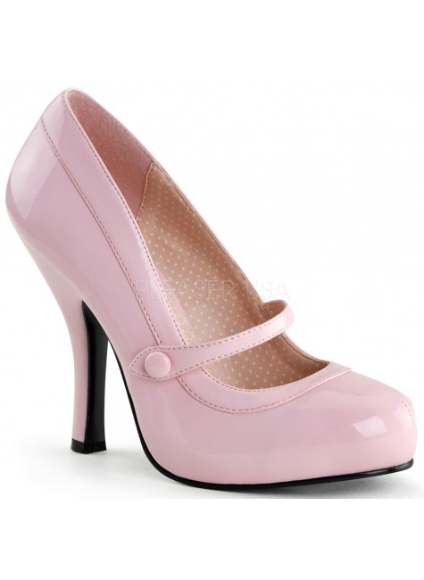 Cutie Pie Baby Pink Mary Jane Pin Up Pumps at Gothic Plus, Gothic Clothing, Jewelry, Goth Shoes & Boots & Home Decor