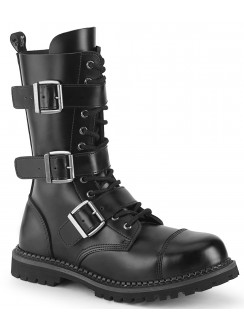 Riot 12 Mens Steel Toe Leather Combat Boots Gothic Plus Gothic Clothing, Jewelry, Goth Shoes & Boots & Home Decor