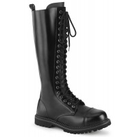 Riot Mens Leather Boots with Steel Toe