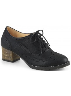 Russell Womens Wingtip Oxford in Black Gothic Plus Gothic Clothing, Jewelry, Goth Shoes & Boots & Home Decor
