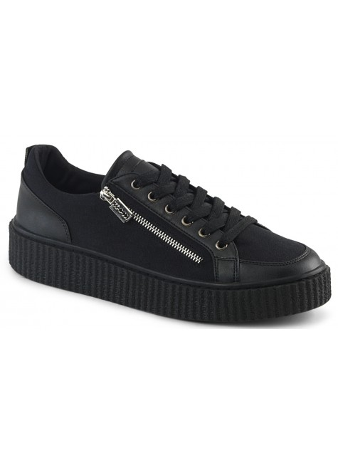 Mens Low Top Black Platform Sneaker at Gothic Plus, Gothic Clothing, Jewelry, Goth Shoes & Boots & Home Decor