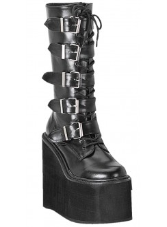 Swing Womens Platform Mid-Calf Boots Gothic Plus Gothic Clothing, Jewelry, Goth Shoes & Boots & Home Decor