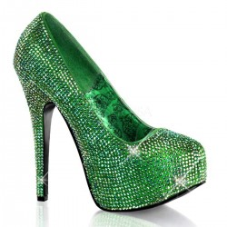 Teeze Green Iridescent Rhinestone Platform Pump Gothic Plus Gothic Clothing, Jewelry, Goth Shoes & Boots & Home Decor