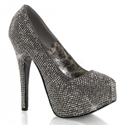 Teeze Pewter Rhinestone Platform Pump Gothic Plus Gothic Clothing, Jewelry, Goth Shoes & Boots & Home Decor