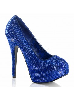 Teeze Royal Blue Rhinestone Platform Pump Gothic Plus Gothic Clothing, Jewelry, Goth Shoes & Boots & Home Decor