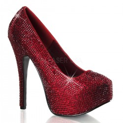 Teeze Ruby Red Rhinestone Platform Pump Gothic Plus Gothic Clothing, Jewelry, Goth Shoes & Boots & Home Decor
