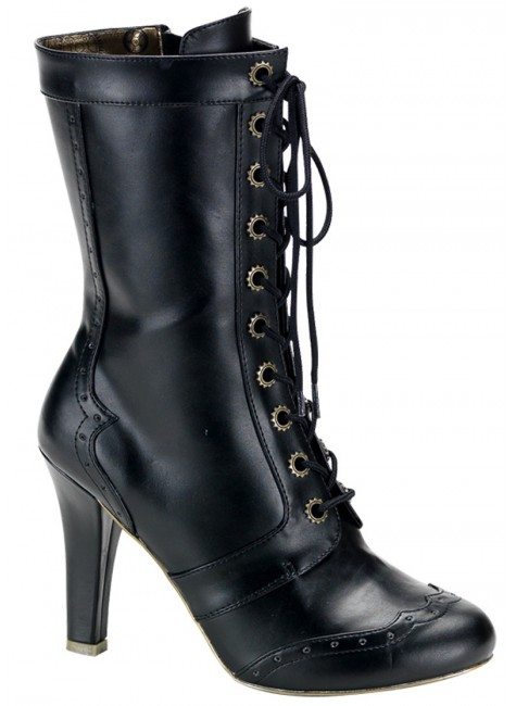 Victorian Tesla Granny Boot at Gothic Plus, Gothic Clothing, Jewelry, Goth Shoes & Boots & Home Decor