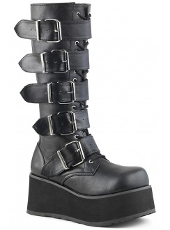 Trashville Buckled Up Unisex Knee Boot Gothic Plus Gothic Clothing, Jewelry, Goth Shoes & Boots & Home Decor