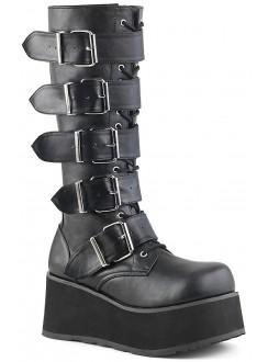 Trashville Buckled Up Unisex Knee Boot