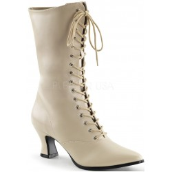 Cream Victorian Ankle Boot Gothic Plus Gothic Clothing, Jewelry, Goth Shoes & Boots & Home Decor