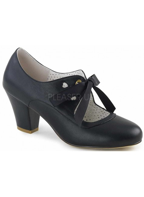 Wiggle Vintage Style Mary Jane Shoe in Black at Gothic Plus, Gothic Clothing, Jewelry, Goth Shoes & Boots & Home Decor