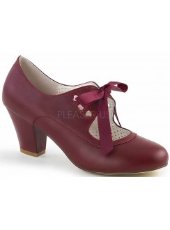 Wiggle Vintage Style Mary Jane Shoe in Burgundy Gothic Plus Gothic Clothing, Jewelry, Goth Shoes & Boots & Home Decor