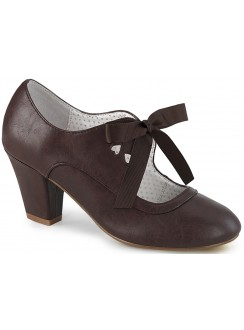 Wiggle Vintage Style Mary Jane Shoe in Dark Brown Gothic Plus Gothic Clothing, Jewelry, Goth Shoes & Boots & Home Decor
