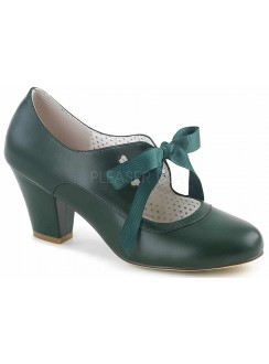 Wiggle Vintage Style Mary Jane Shoe in Forest Green Gothic Plus Gothic Clothing, Jewelry, Goth Shoes & Boots & Home Decor