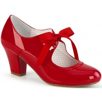 Wiggle Vintage Style Mary Jane Shoe in Red Patent