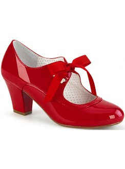 Wiggle Vintage Style Mary Jane Shoe in Red Patent Gothic Plus Gothic Clothing, Jewelry, Goth Shoes & Boots & Home Decor