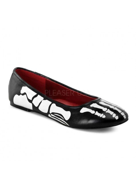 X-Ray Skeleton Ballet Flats at Gothic Plus, Gothic Clothing, Jewelry, Goth Shoes & Boots & Home Decor
