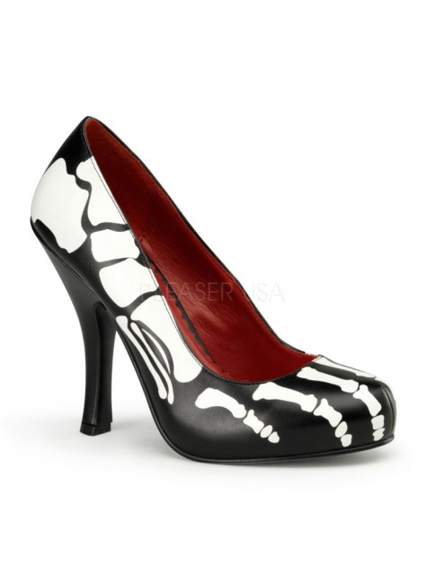 X-Ray Skeleton Pumps at Gothic Plus, Gothic Clothing, Jewelry, Goth Shoes & Boots & Home Decor