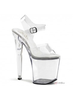 Clear Xtreme 8 Inch High Platform Sandal Gothic Plus Gothic Clothing, Jewelry, Goth Shoes & Boots & Home Decor