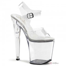 Clear Xtreme 8 Inch High Platform Sandal Gothic Plus  Gothic Clothing, Jewelry, Goth Shoes, Boots & Home Decor