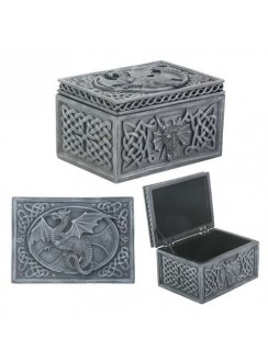 Dragon Celtic Jewelry Box Gothic Plus Gothic Clothing, Jewelry, Goth Shoes & Boots & Home Decor