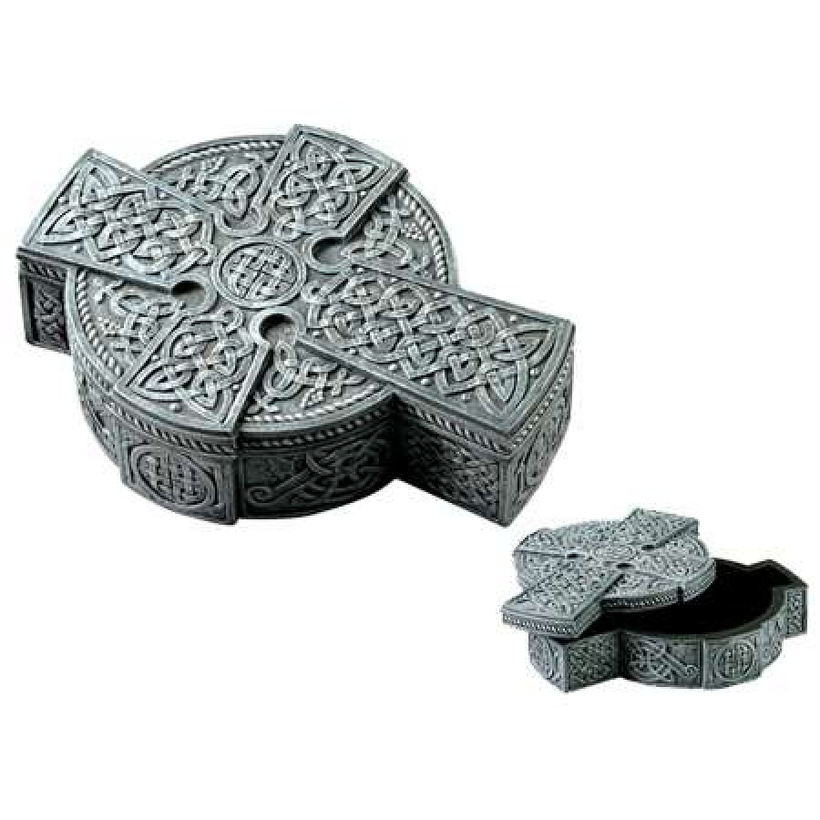 Celtic cross trinket box for Celtic decorations home